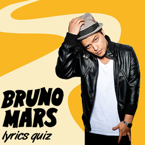 Bruno Mars Song Lyrics Quiz